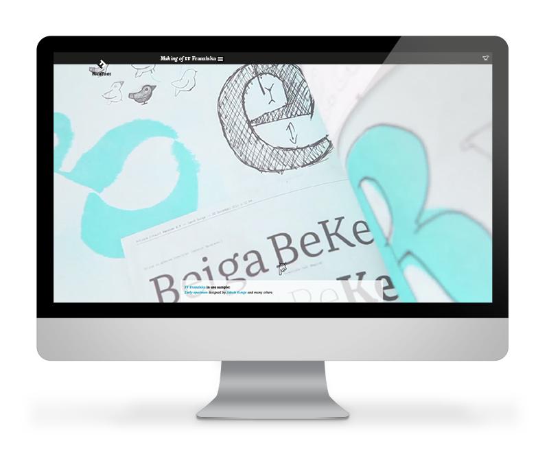 """Screenshot microsite <a href=""""http://www.fffranziska.com"""">FFFranziska.com</a>"""