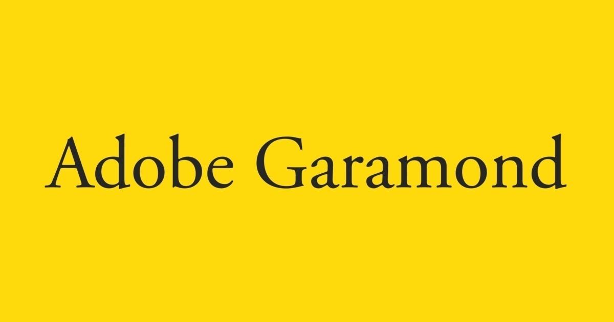 Adobe Garamond Font | FontShop
