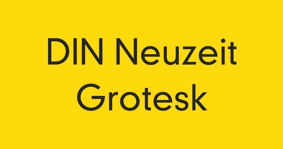 DIN Neuzeit Grotesk Font | FontShop