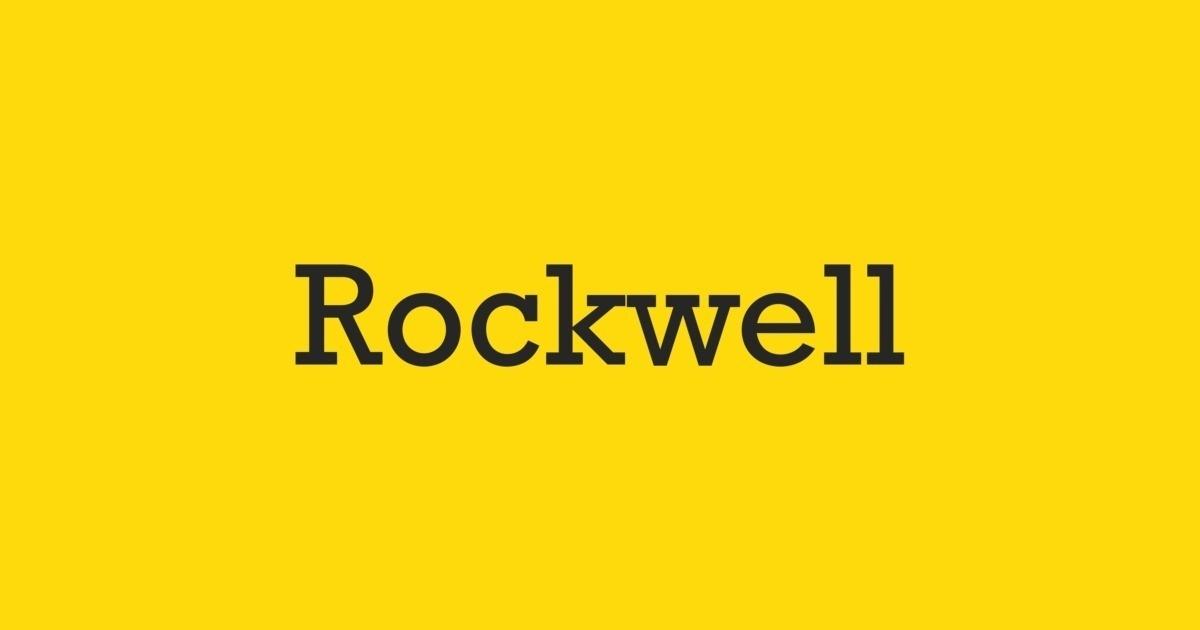 Rockwell font similar