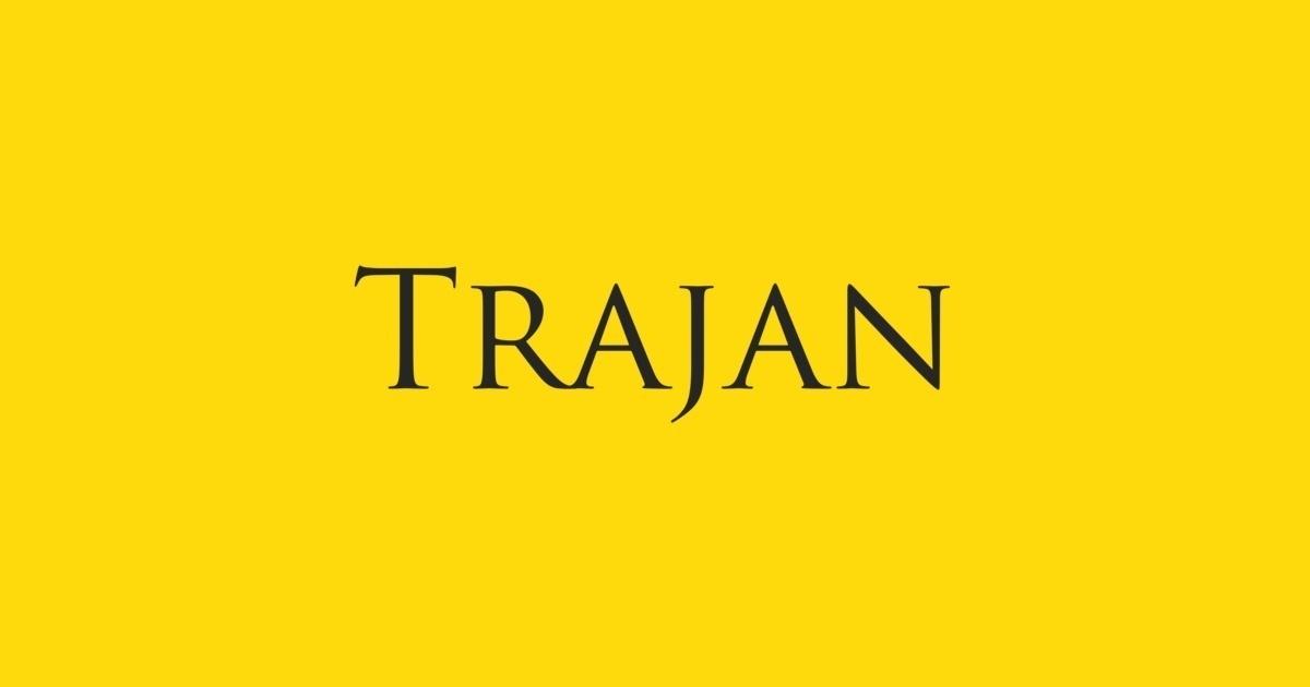 Trajan Font   FontShop