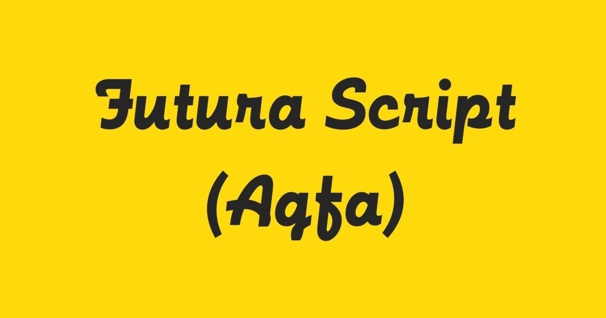 Futura Script Font | FontShop