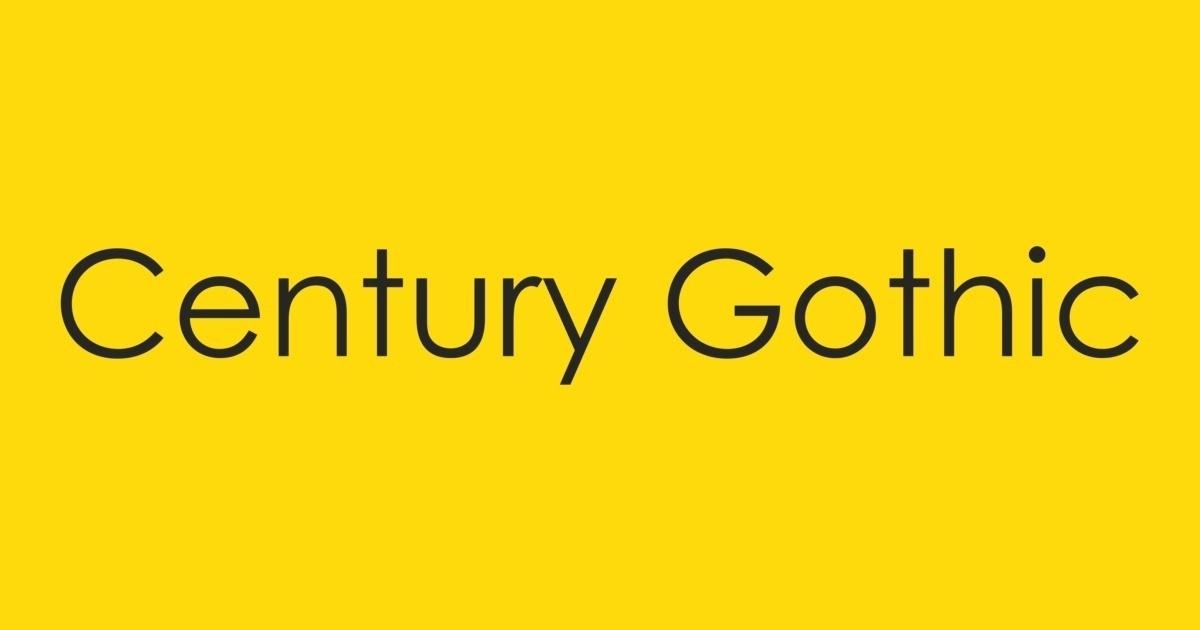 Century gothic bold скачать