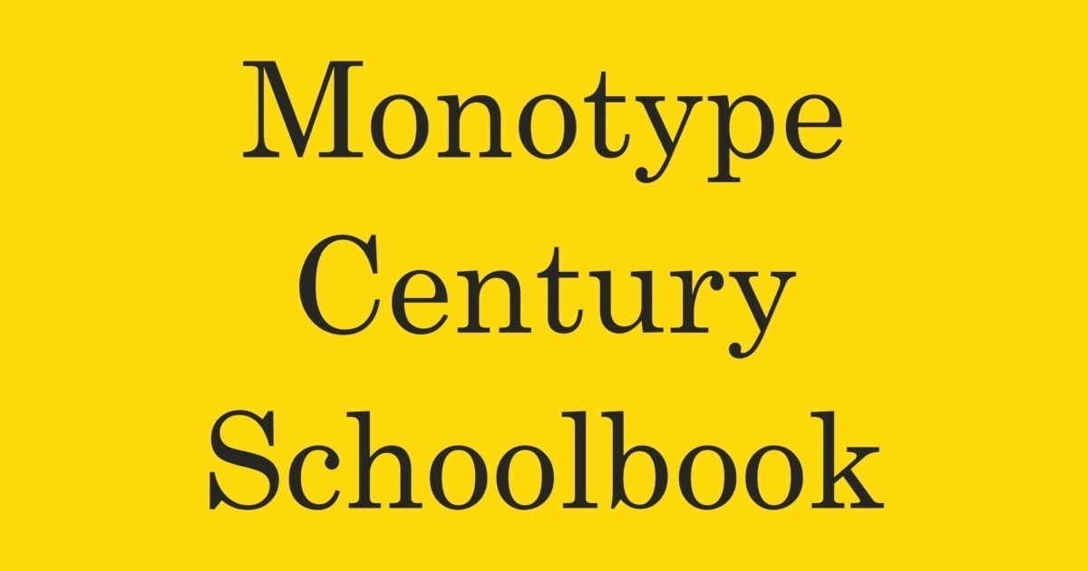 Monotype Century Font | FontShop