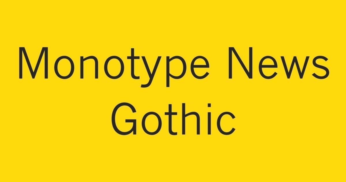 Monotype News Gothic Font | FontShop
