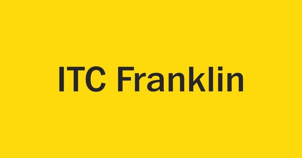 ITC Franklin Font | FontShop