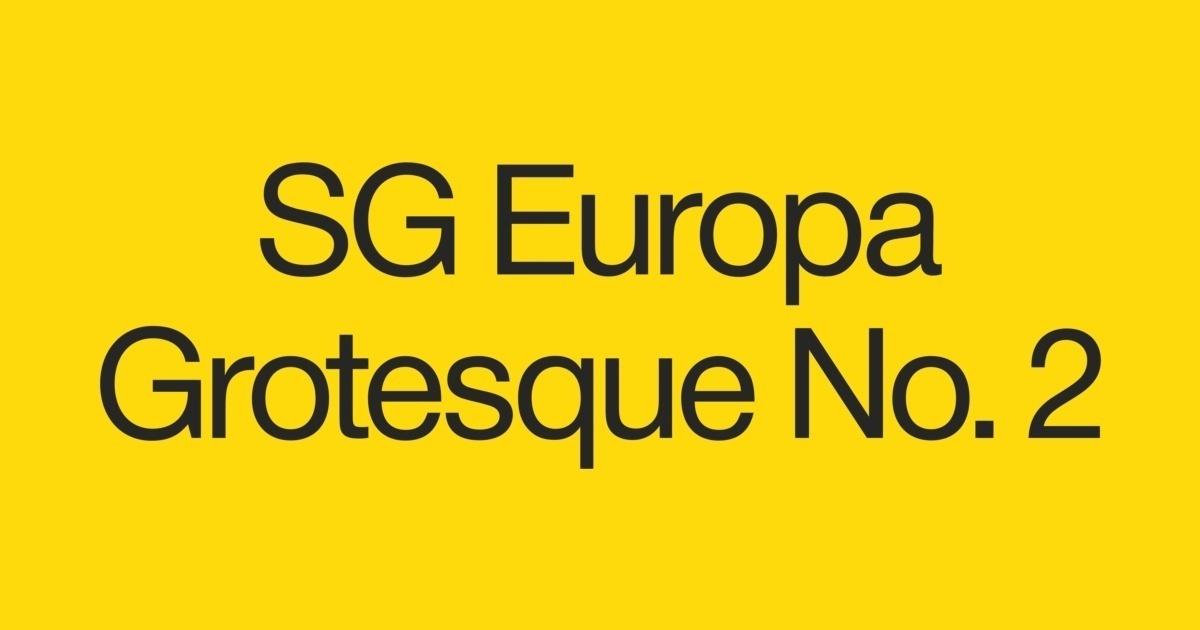 SG Europa Grotesk No  2 SB Font | FontShop