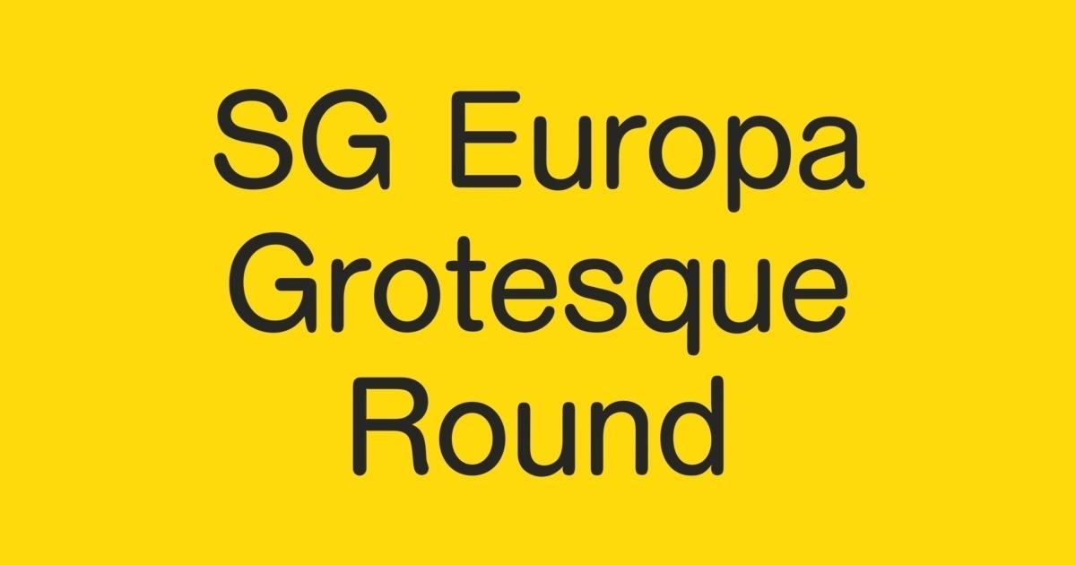 SG Europa Grotesk SB Font | FontShop