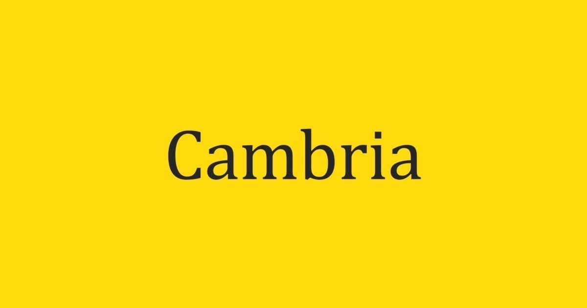 Cambria Font | FontShop