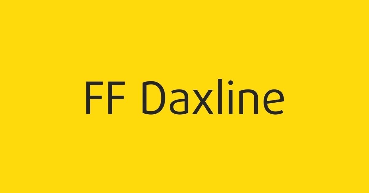 FF Daxline Font | FontShop