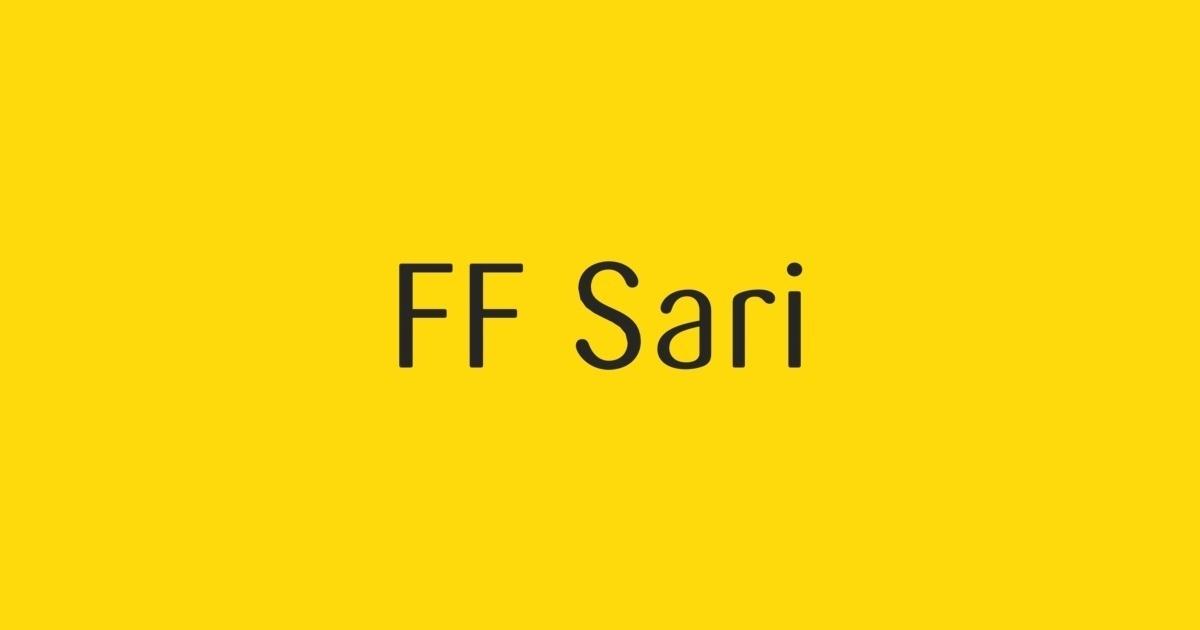 FF Sari Font | FontShop