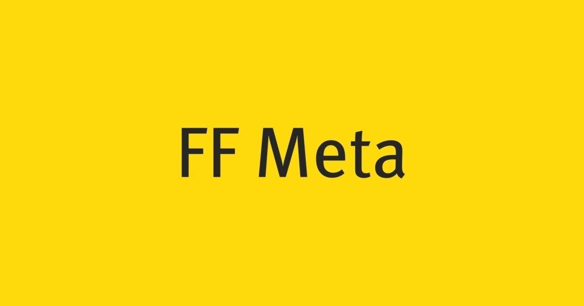 FF Meta Font | FontShop