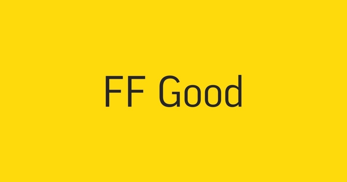 ff good pro font free download