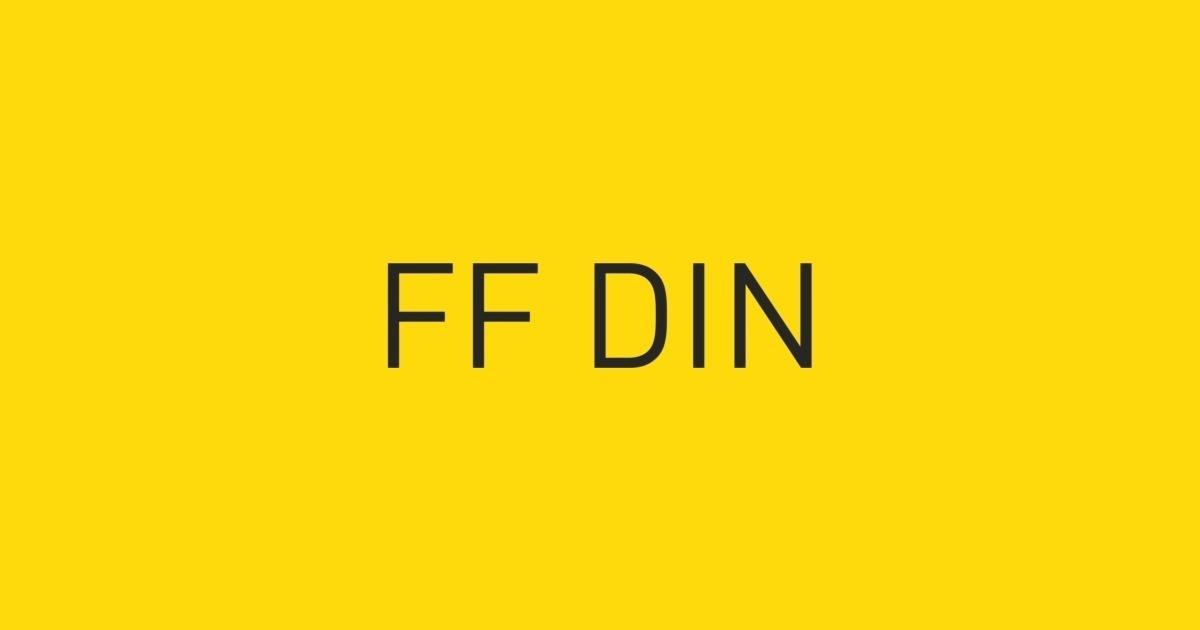 FF DIN Font | FontShop