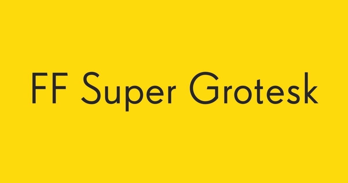 FF Super Grotesk Font   FontShop