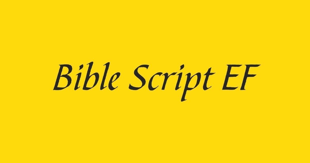 FontShop   Bible Script