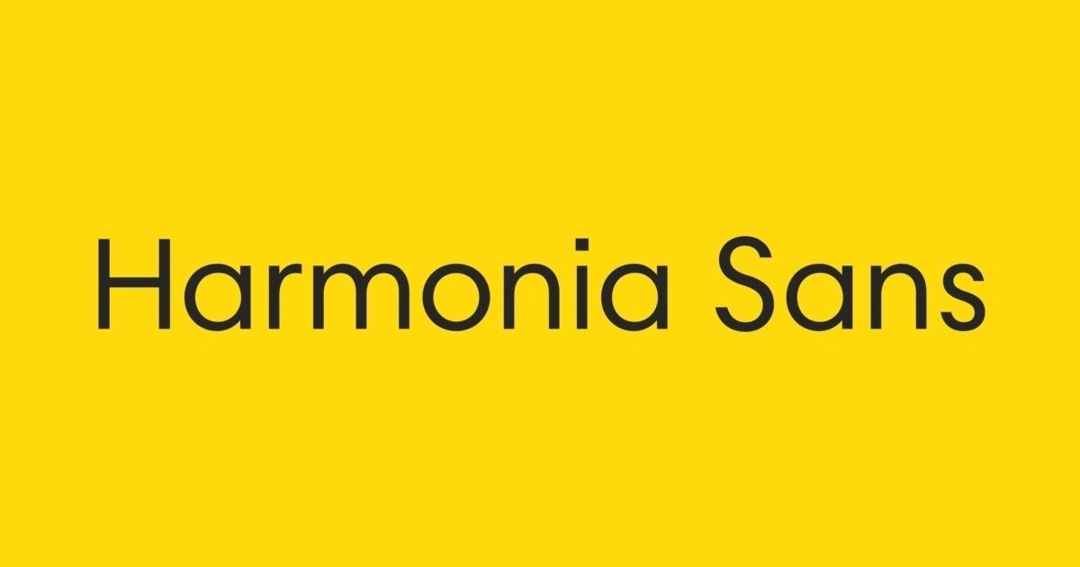 Harmonia Sans Font   FontShop