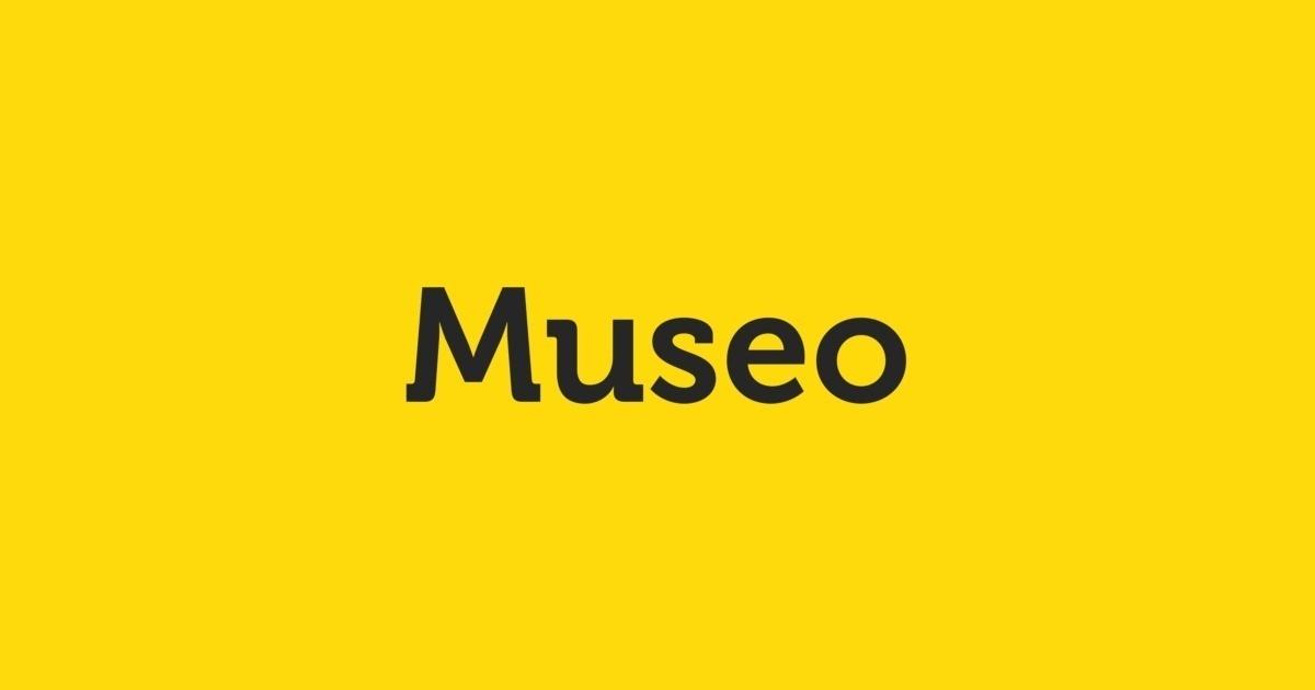 Museo Font.Fontshop Museo