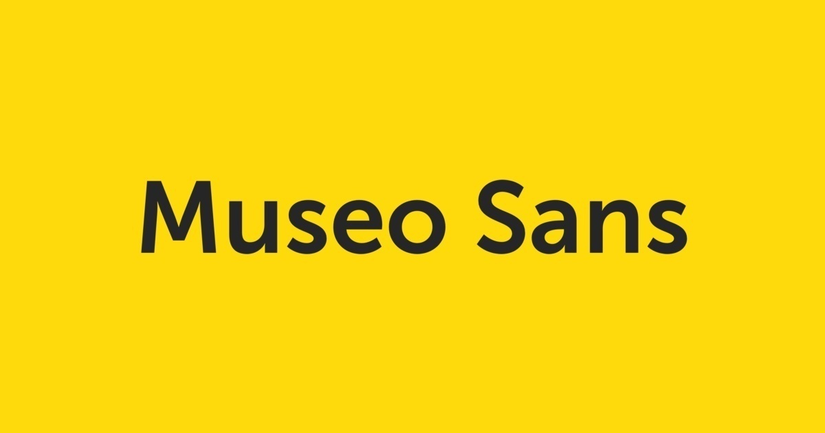 Museo sans 300 free