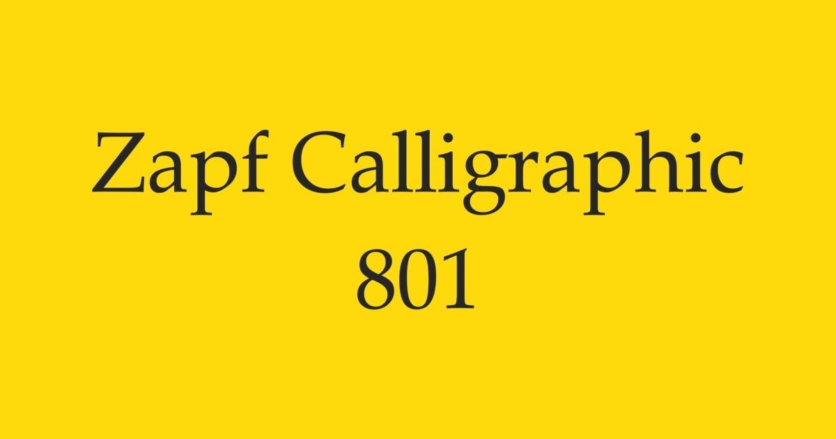 Fontshop Zapf Calligraphic 801 In Use Gallery
