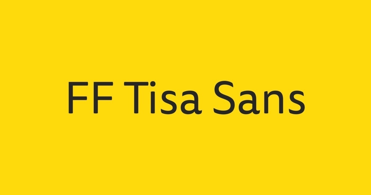 ff tisa sans font free download