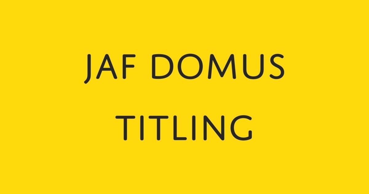 jaf domus titling font