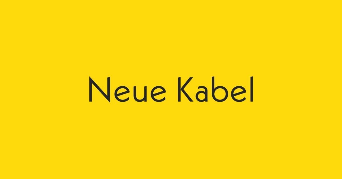 Neue Kabel Font | FontShop