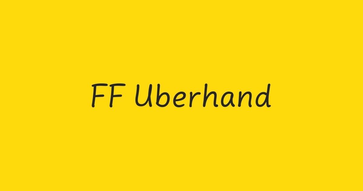 FF Uberhand Font | FontShop