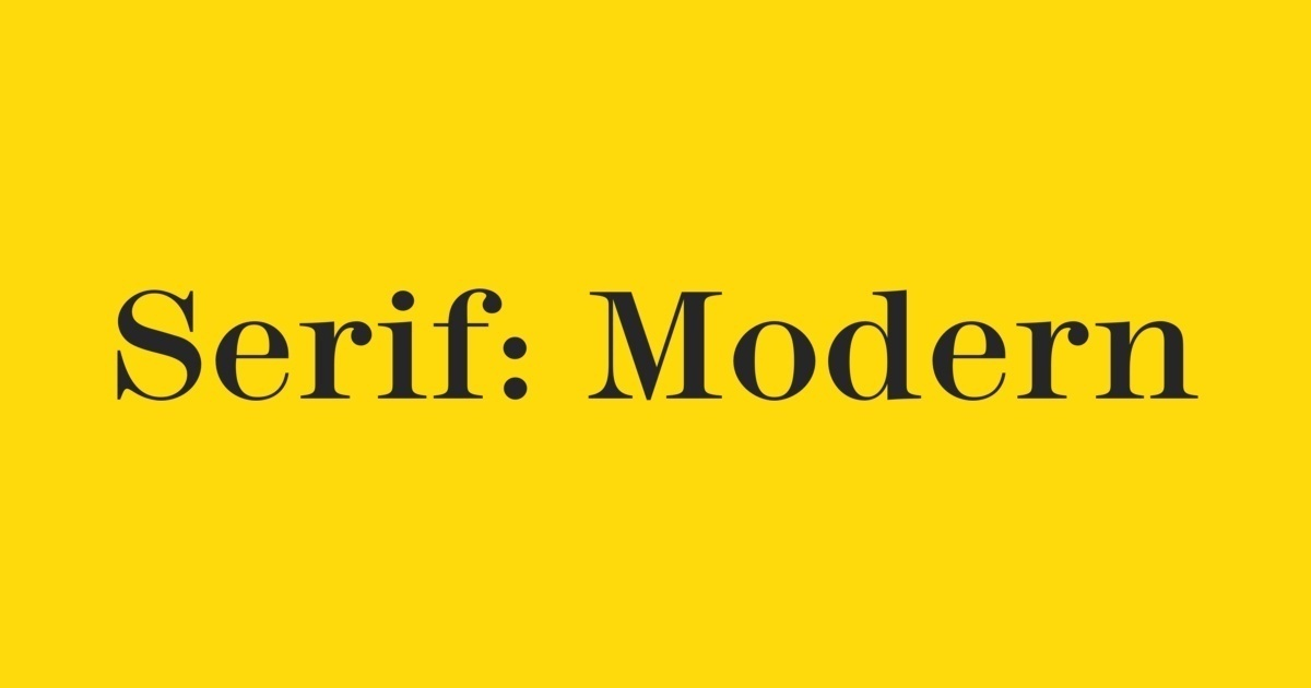Kết quả hình ảnh cho modern serif