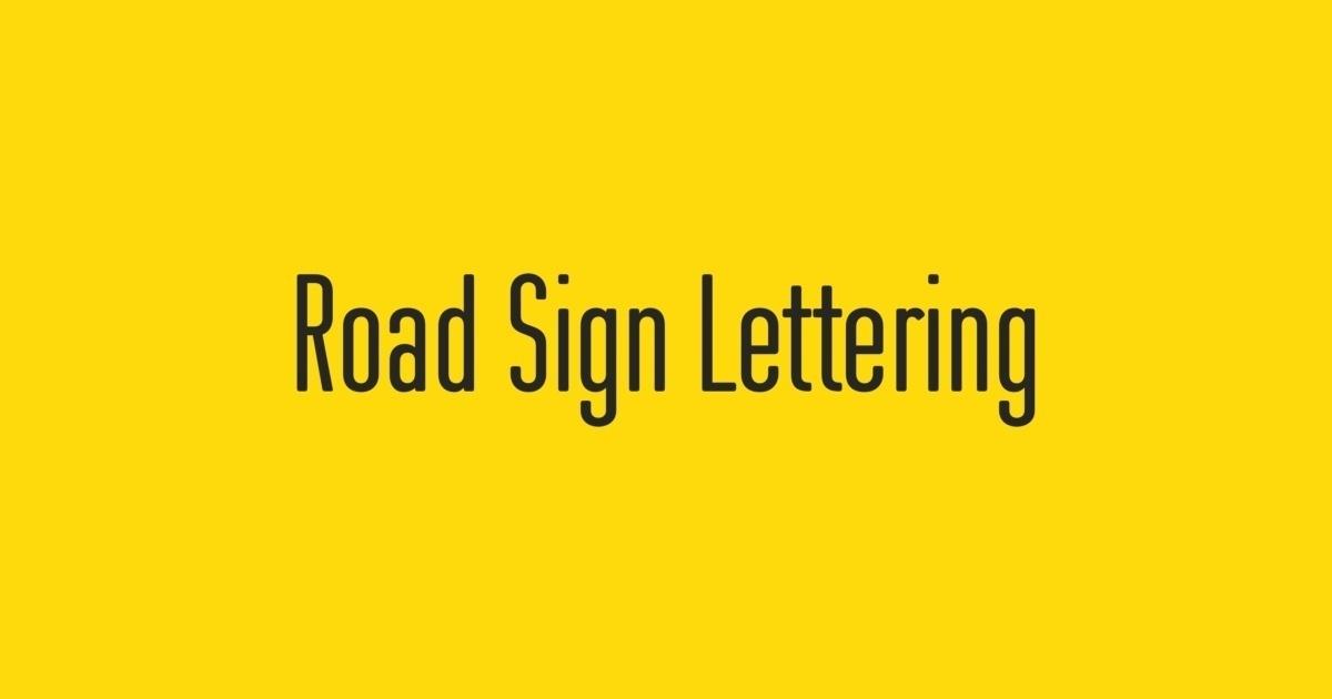 fontshop road sign lettering
