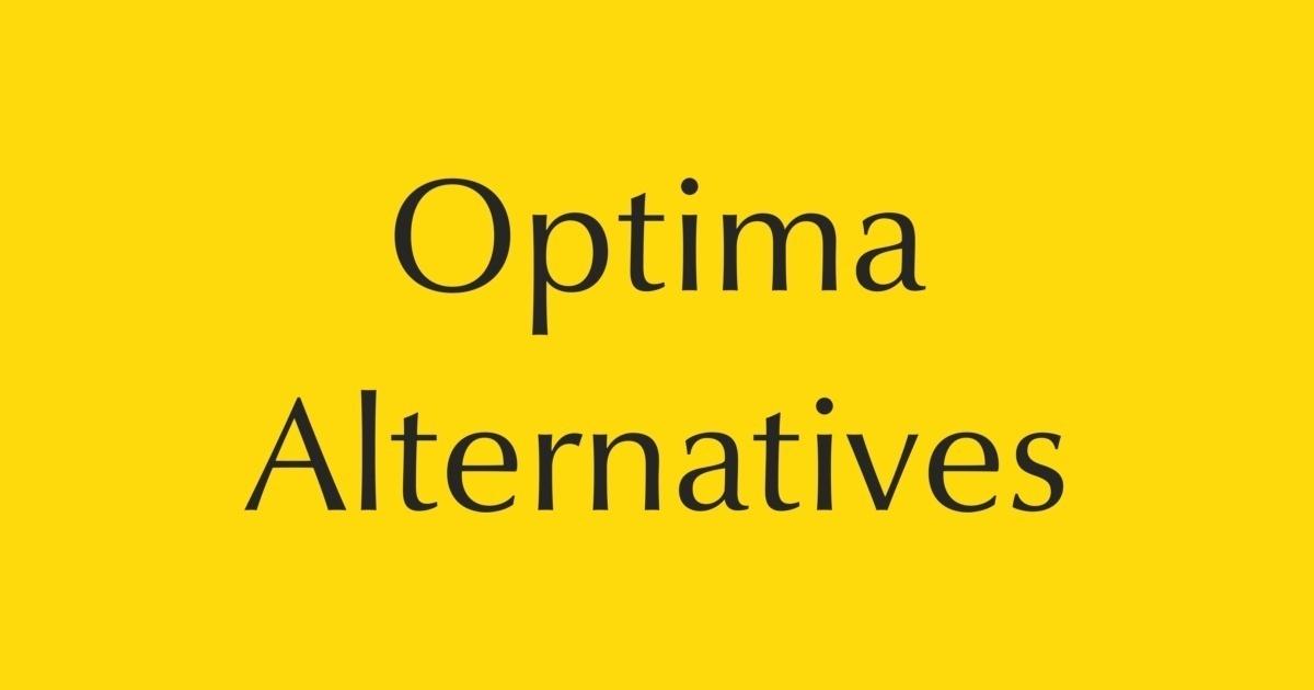 Optima Alternatives | FontShop