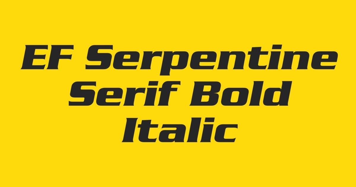 FontShop   EF Serpentine Serif Bold Italic