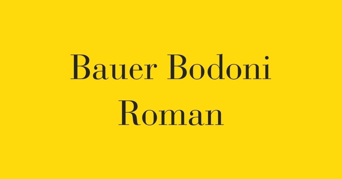 FontShop   Bauer Bodoni Roman