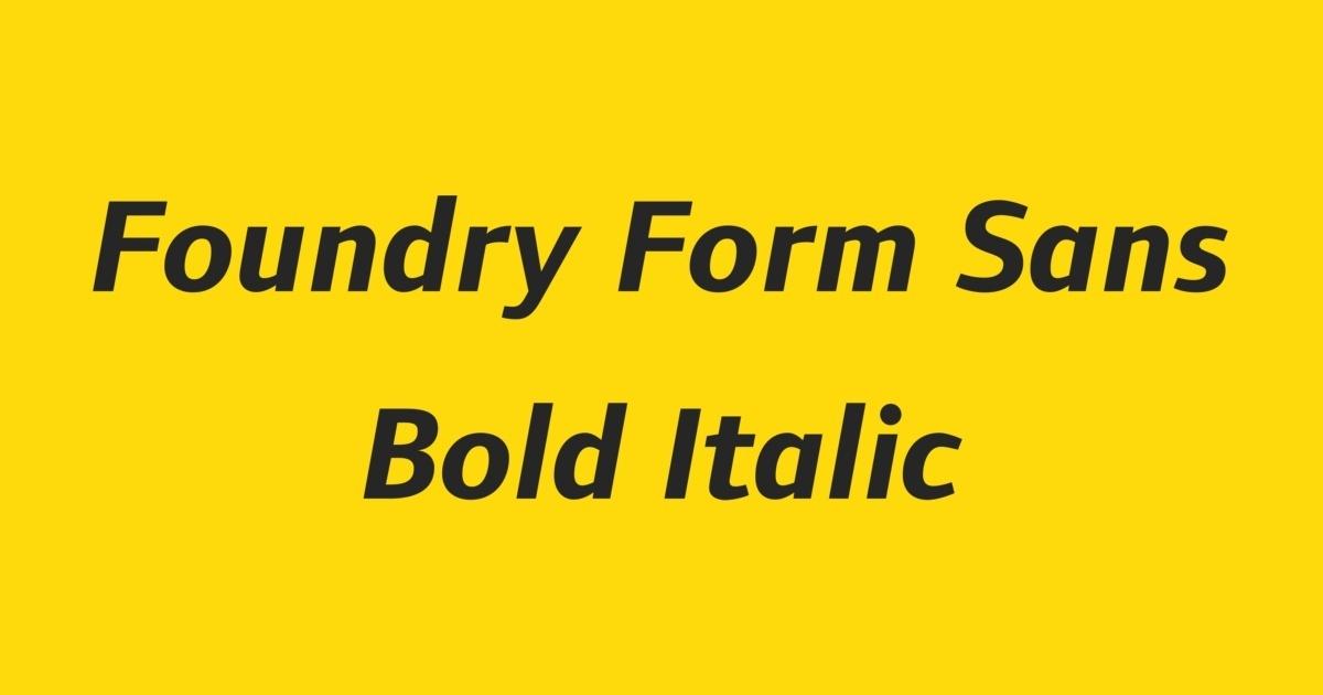 Foundry Form Sans