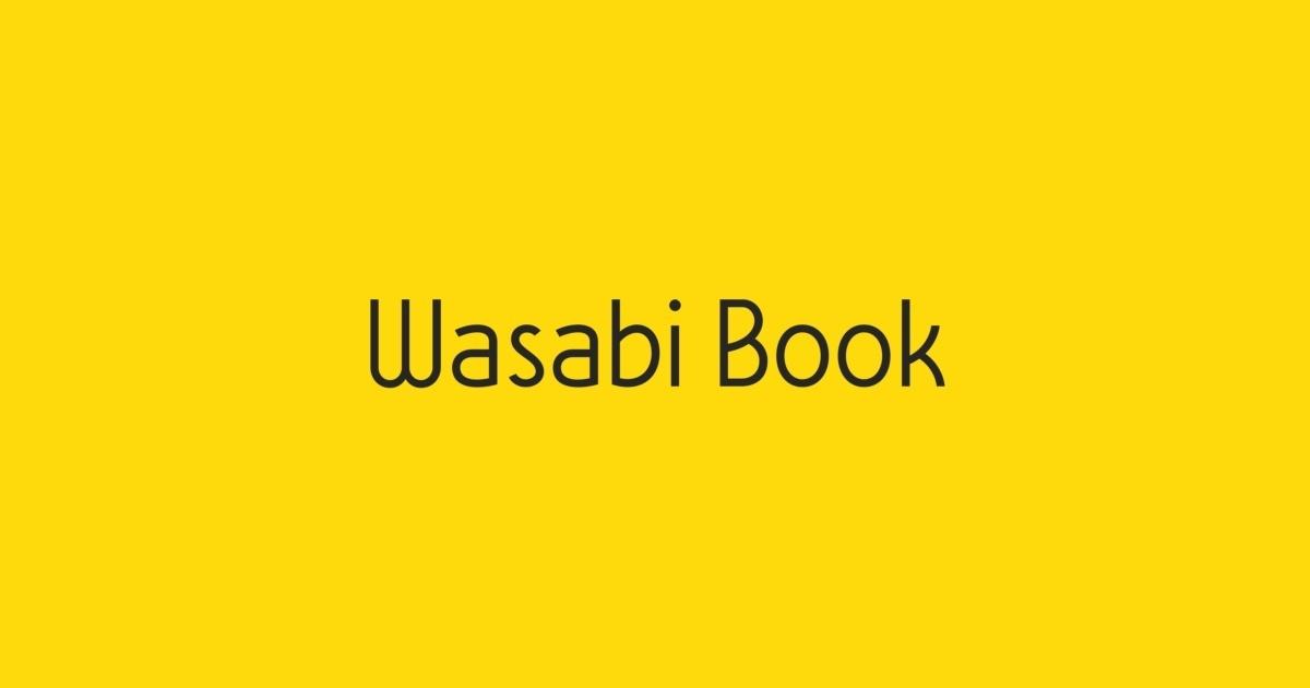 Wasabi Book Font